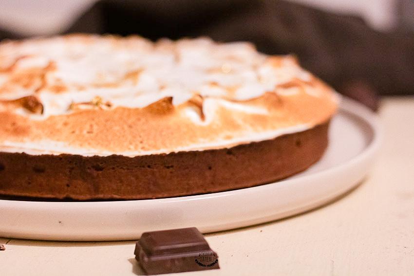 tarte au chocolat meringue italienne
