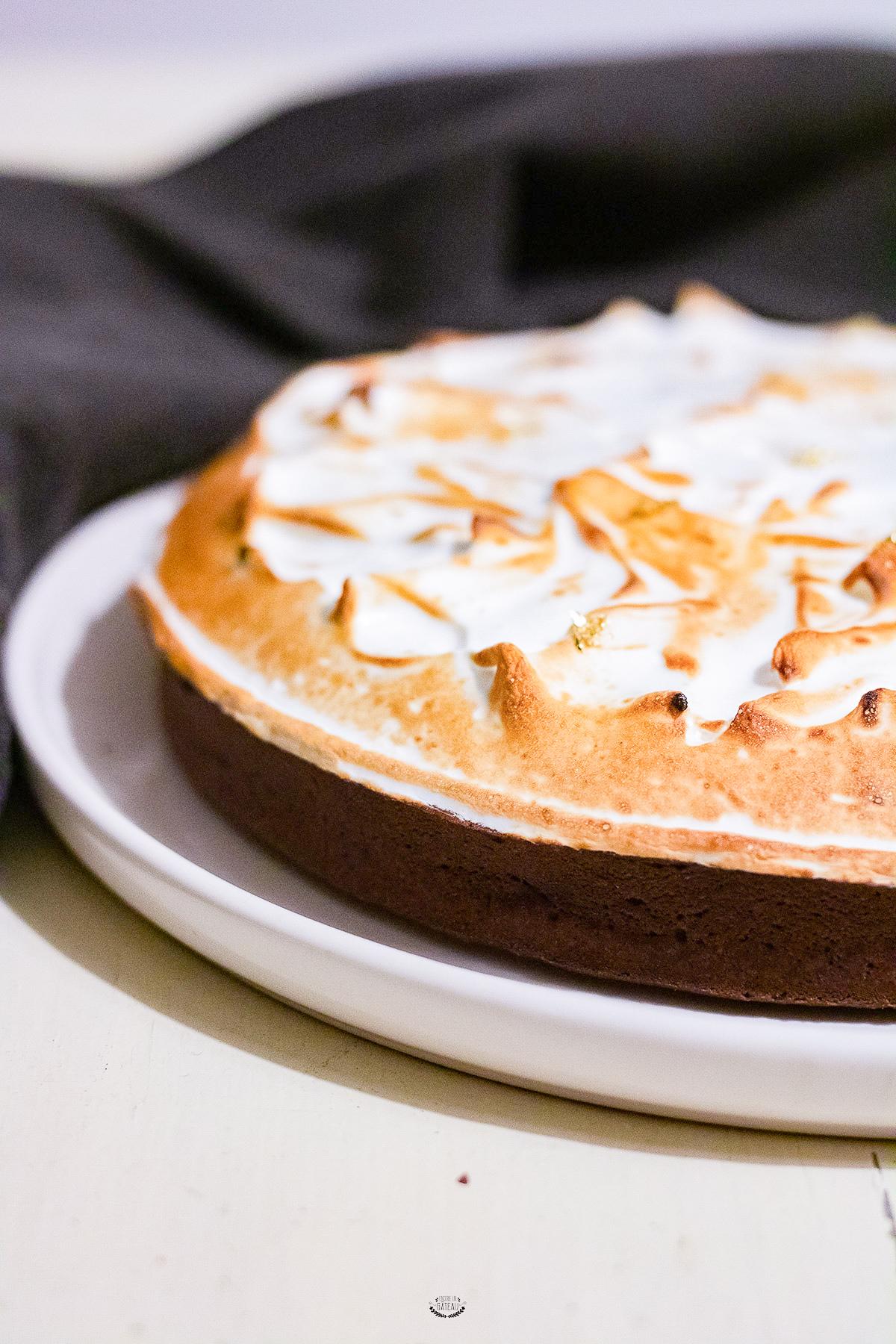 tarte ganache chocolat meringuée