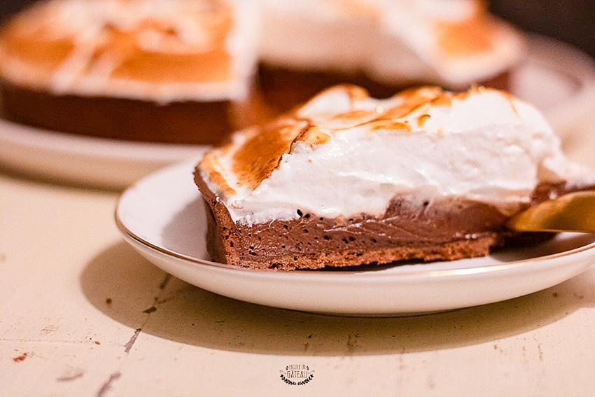 recette tarte tout chocolat meringuée