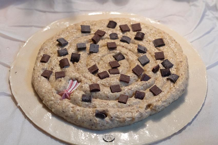 garniture galette noisettes chocolat