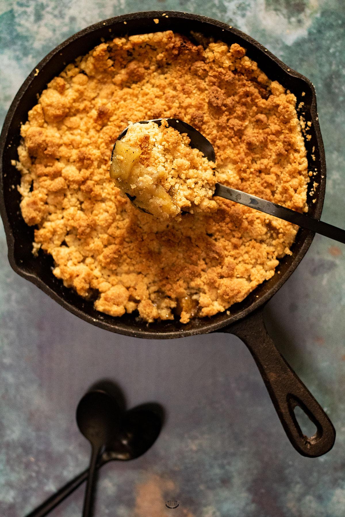 recette crumble pommes felder