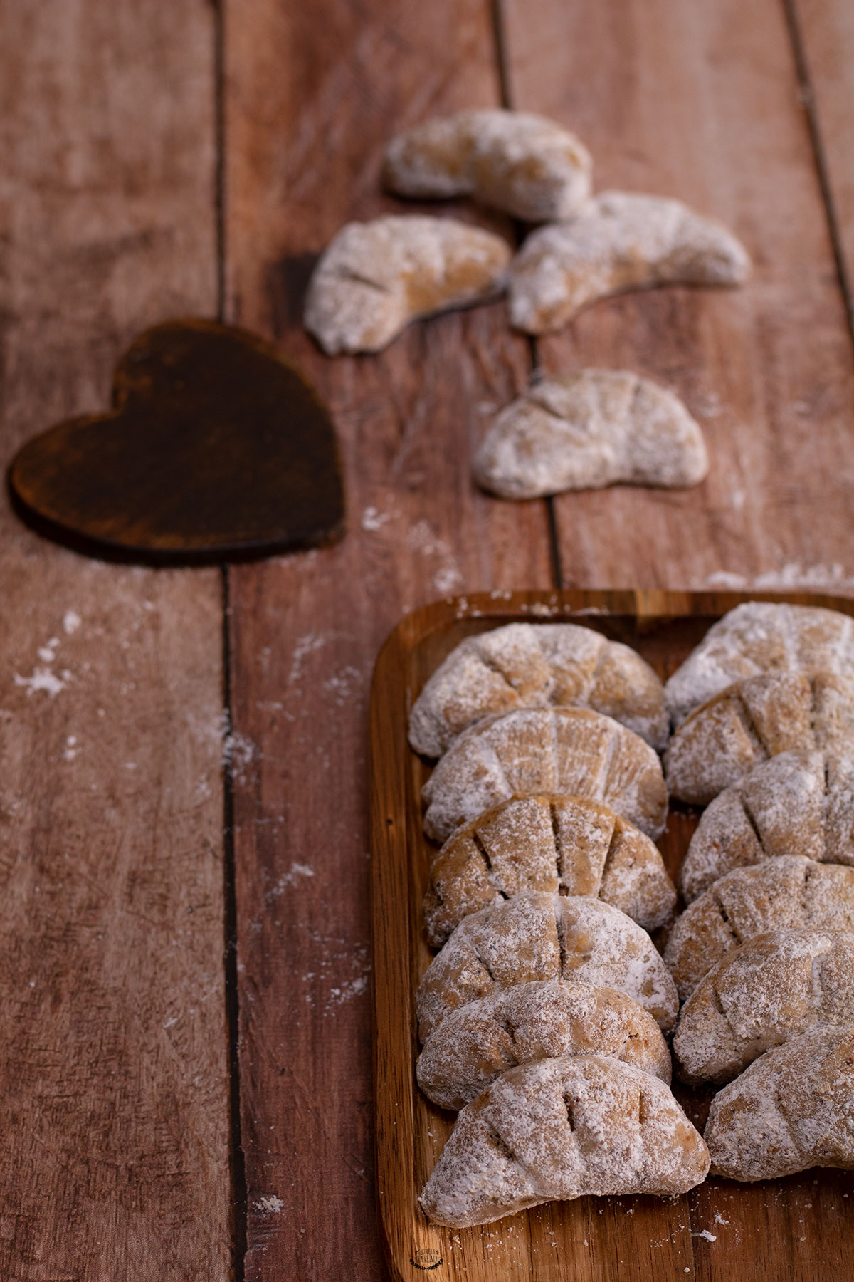 biscuits noisettes croissants de lune