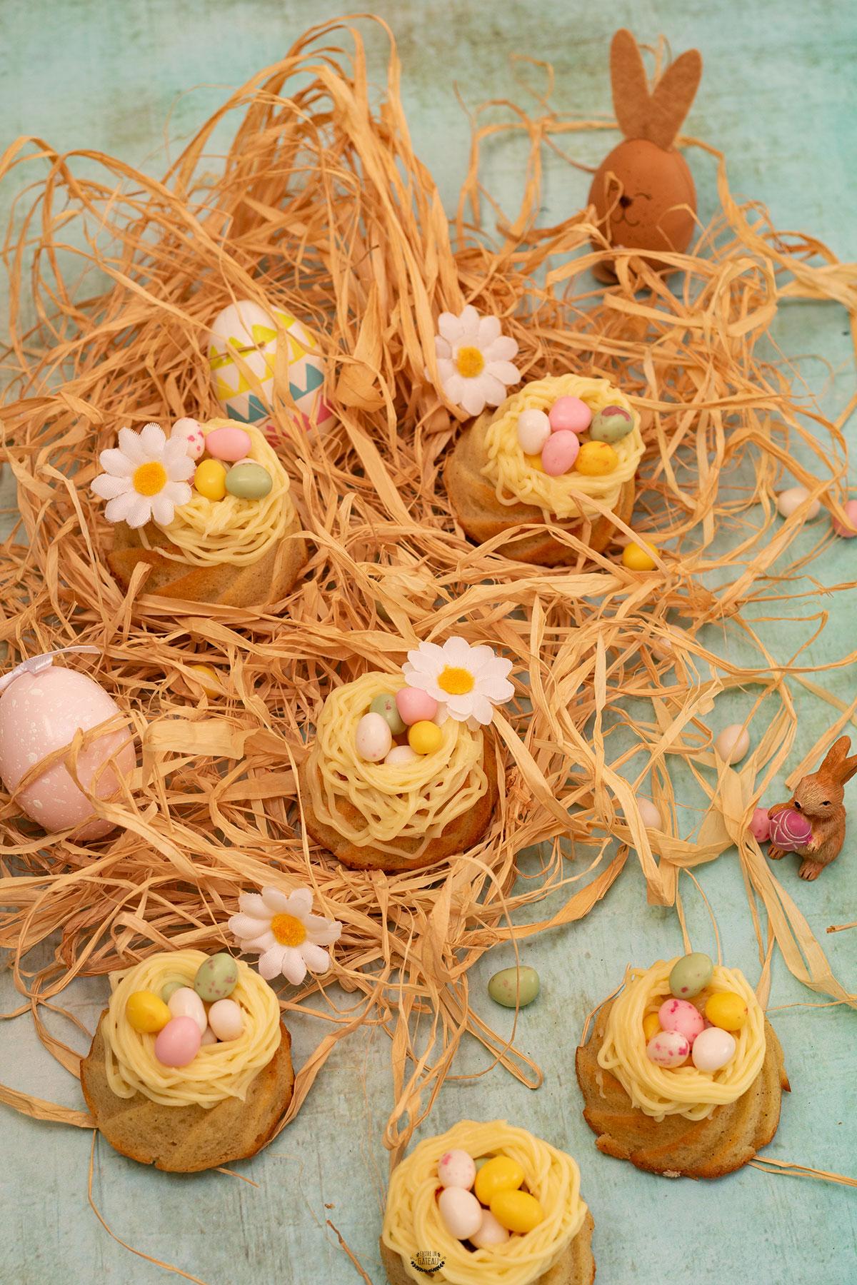 nids de pâques ganache chocolat blanc