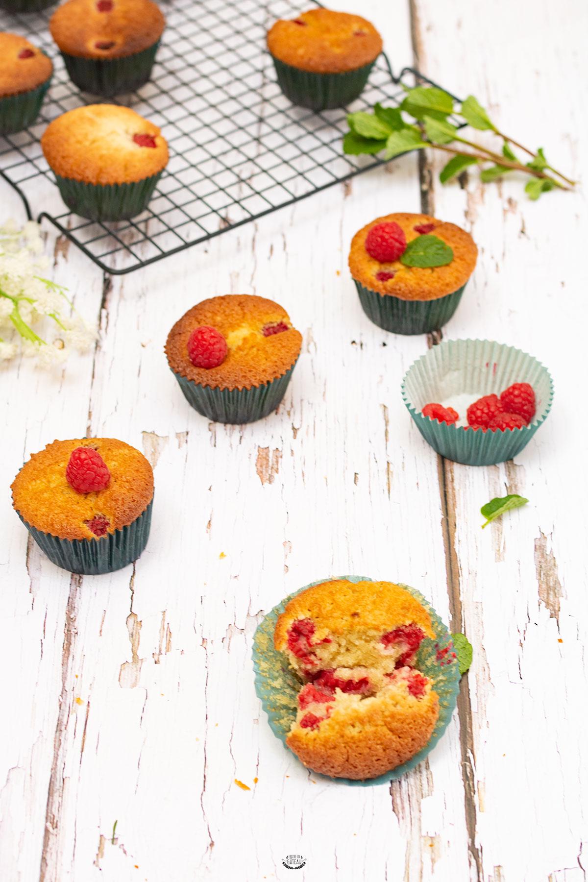 recette facile de muffins aux framboises