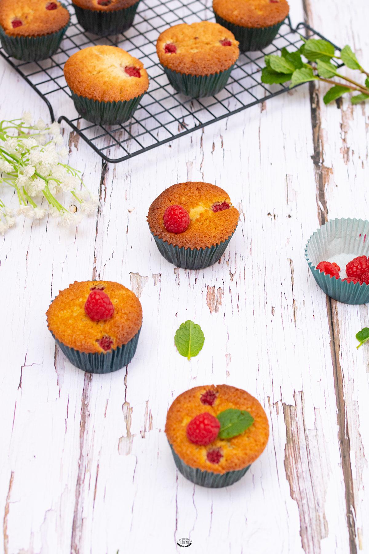 recette muffins framboises