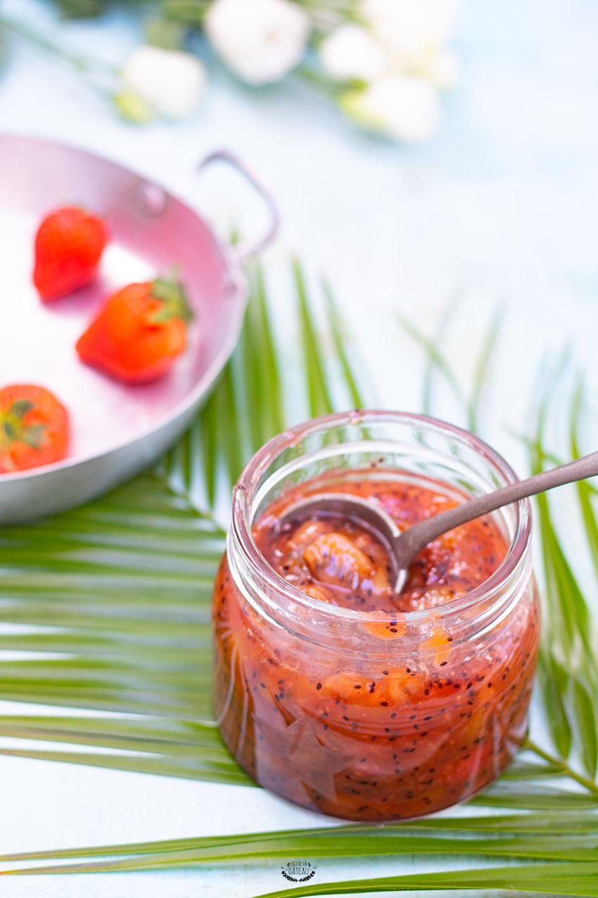 confiture fraises kiwis facile