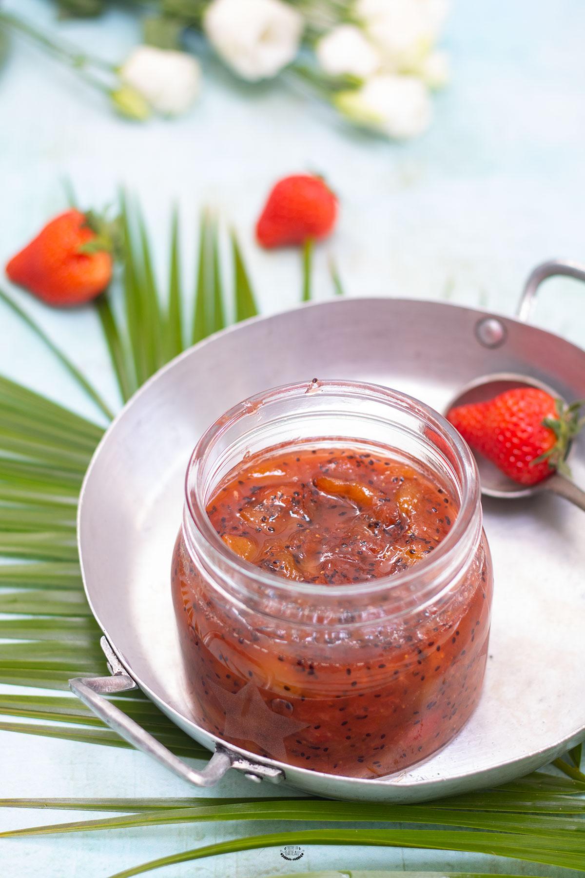 confiture kiwi fraise