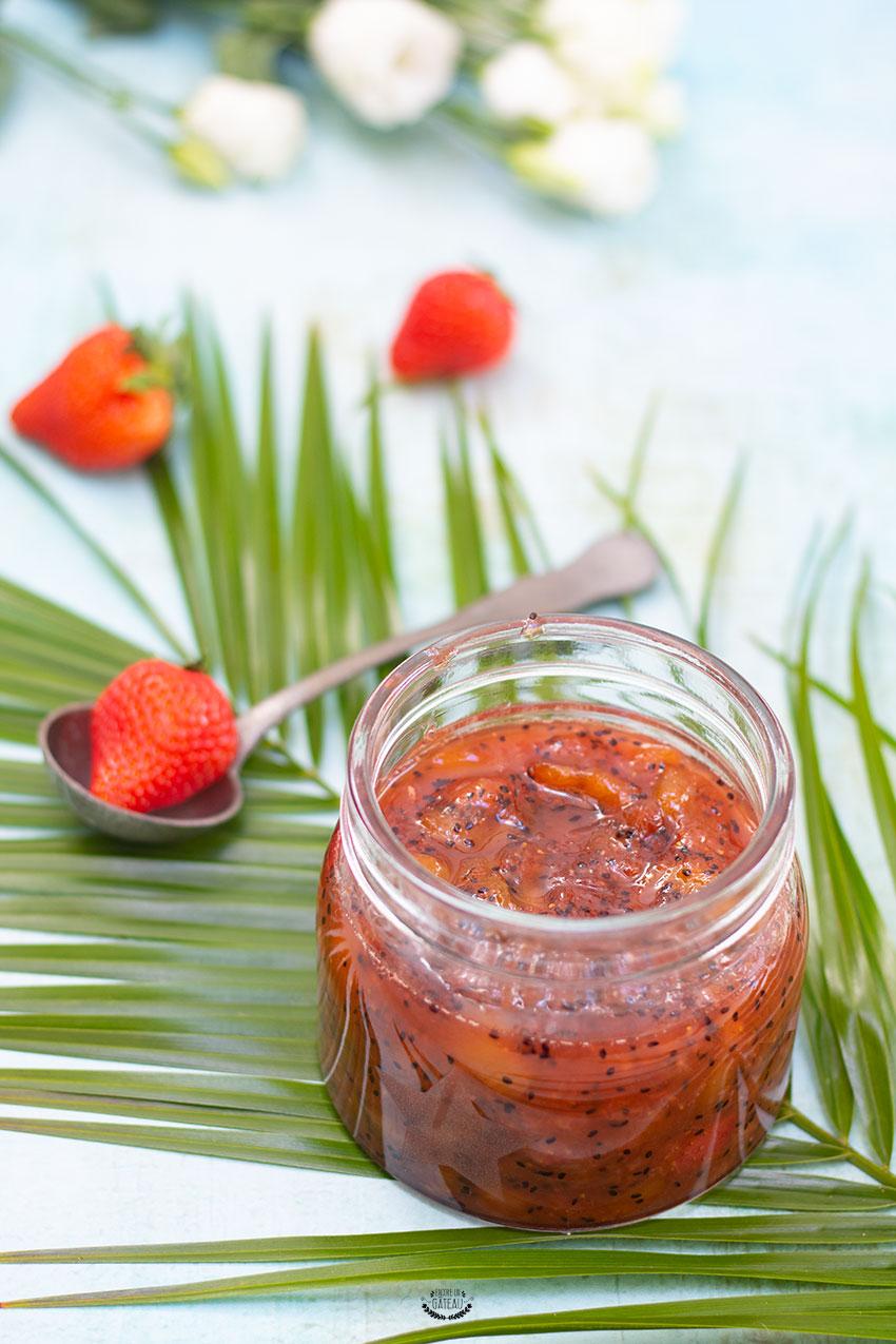 confiture kiwis fraises