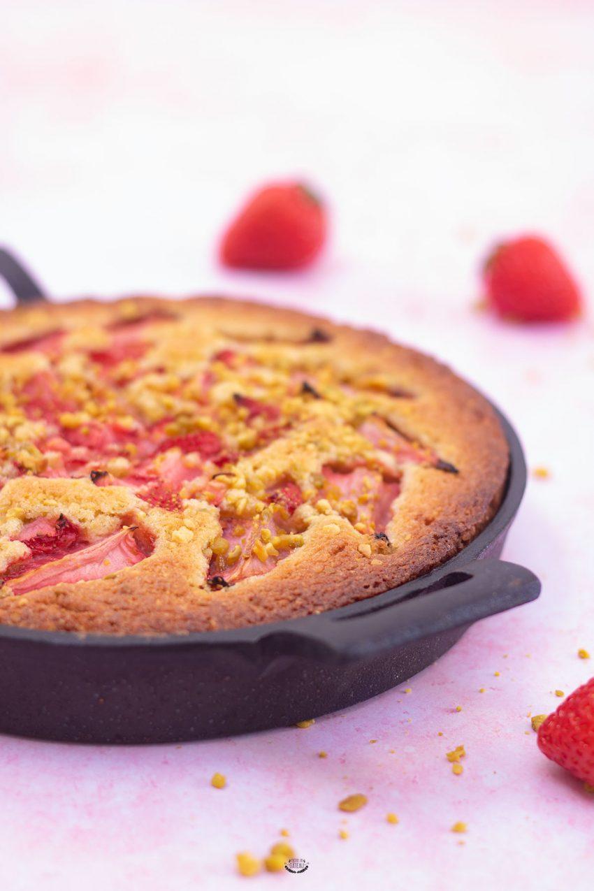 cookie géant fraise pistache recette facile