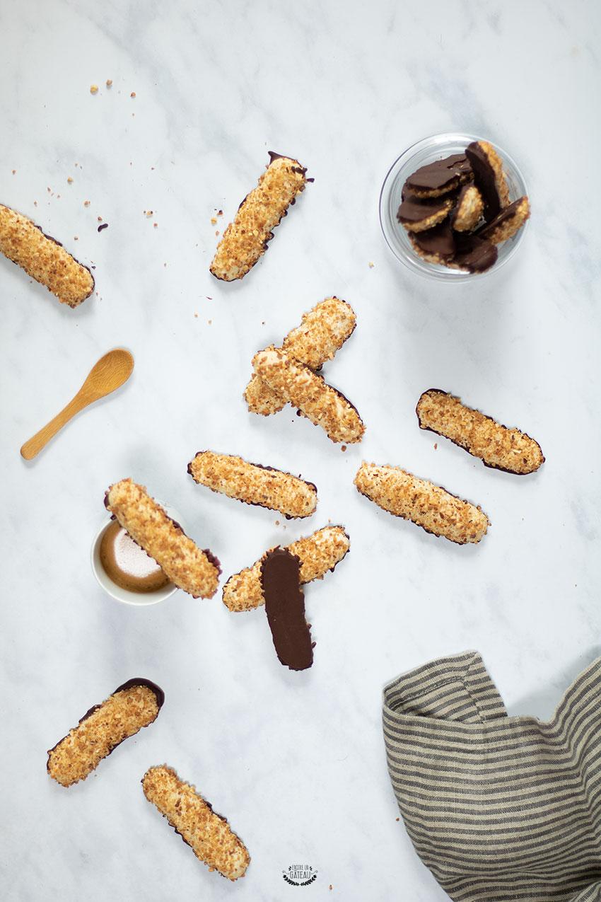 bâtons maréchaux amandes chocolat