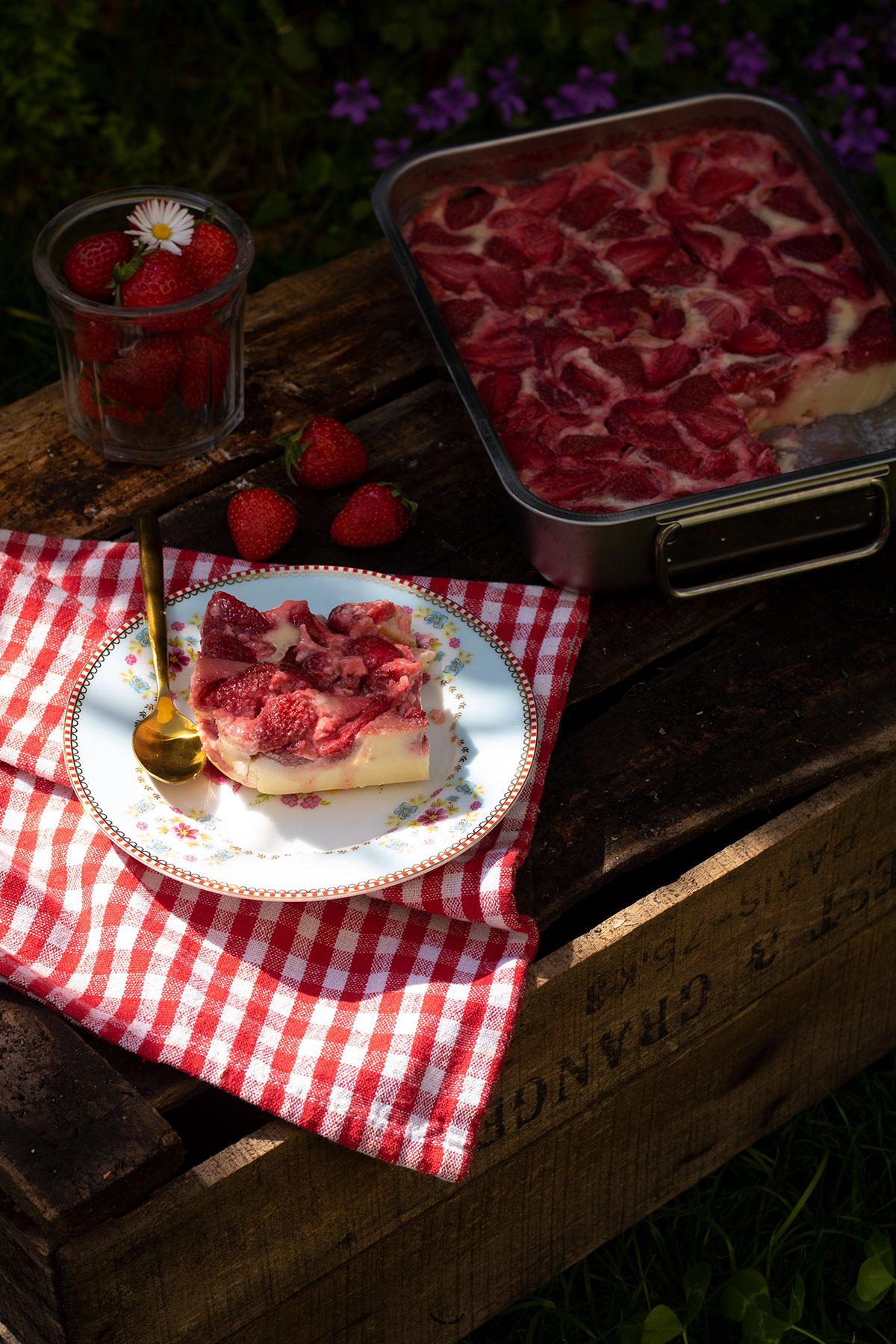 recette de clafoutis aux fraises