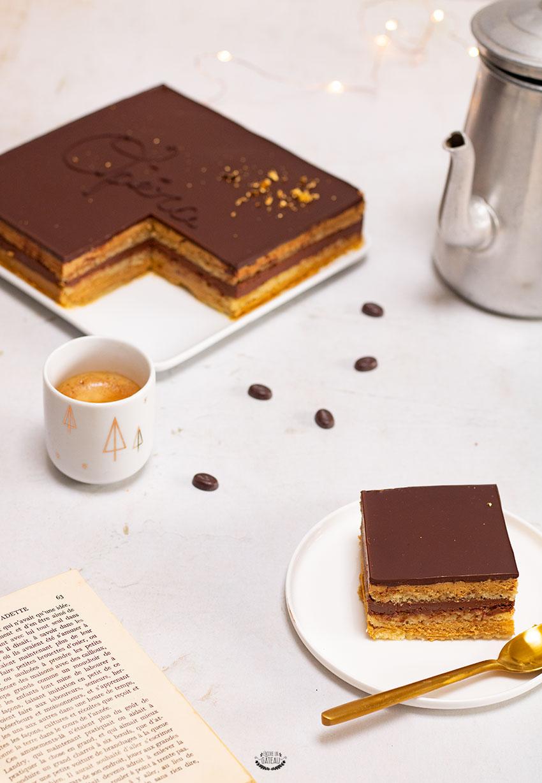 opéra entremets chocolat café recette détaillée