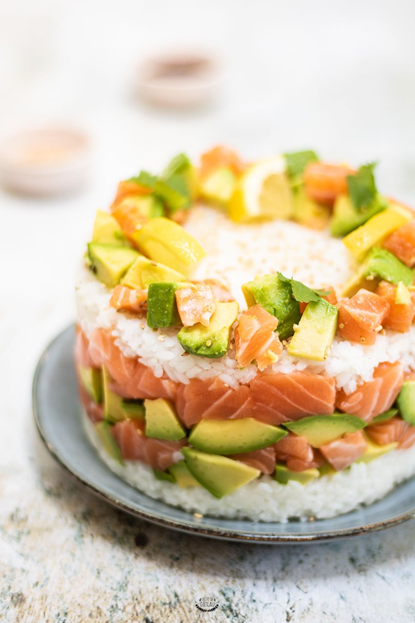 recette de sushi cake