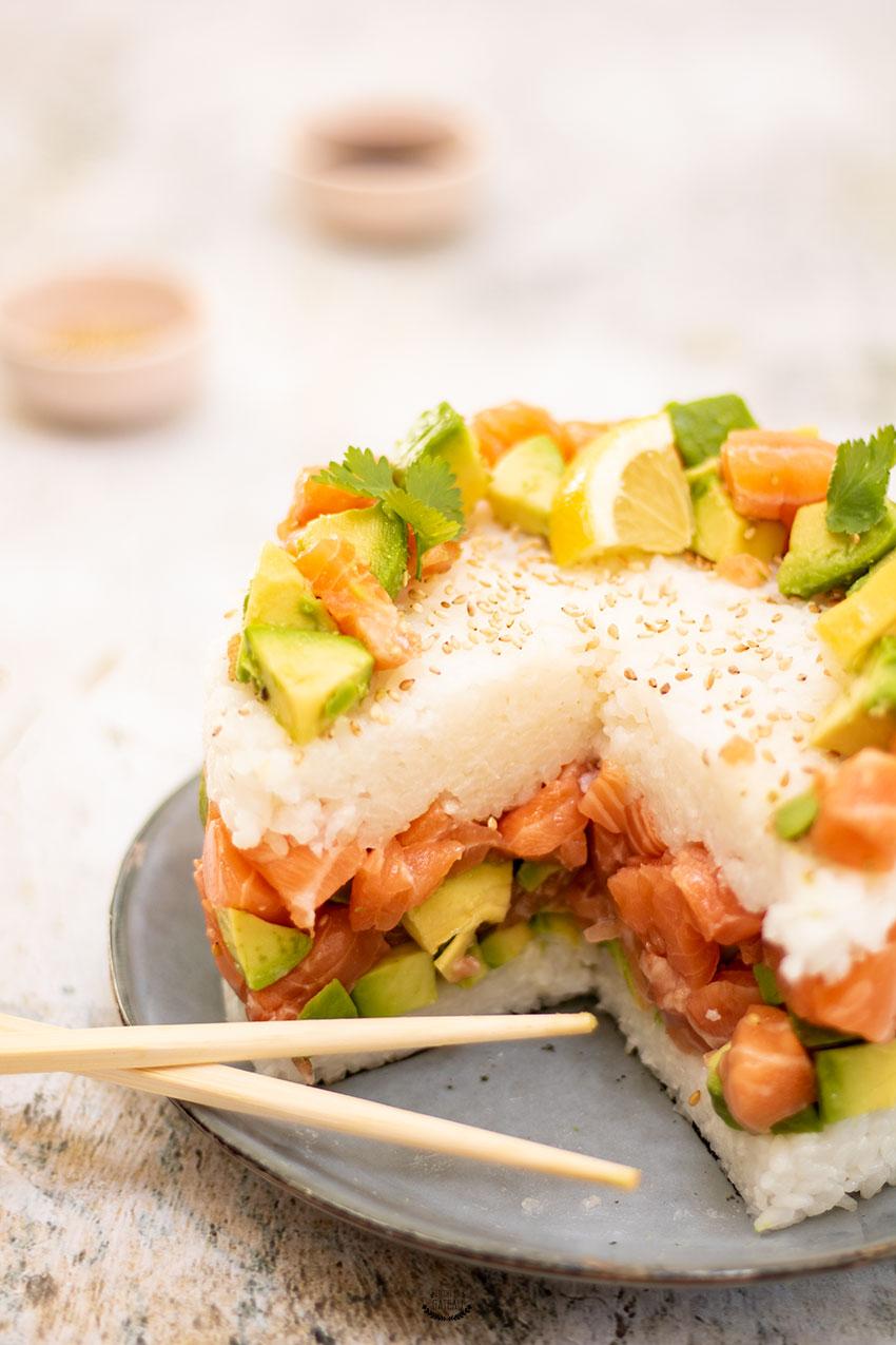 sushi cake recette facile