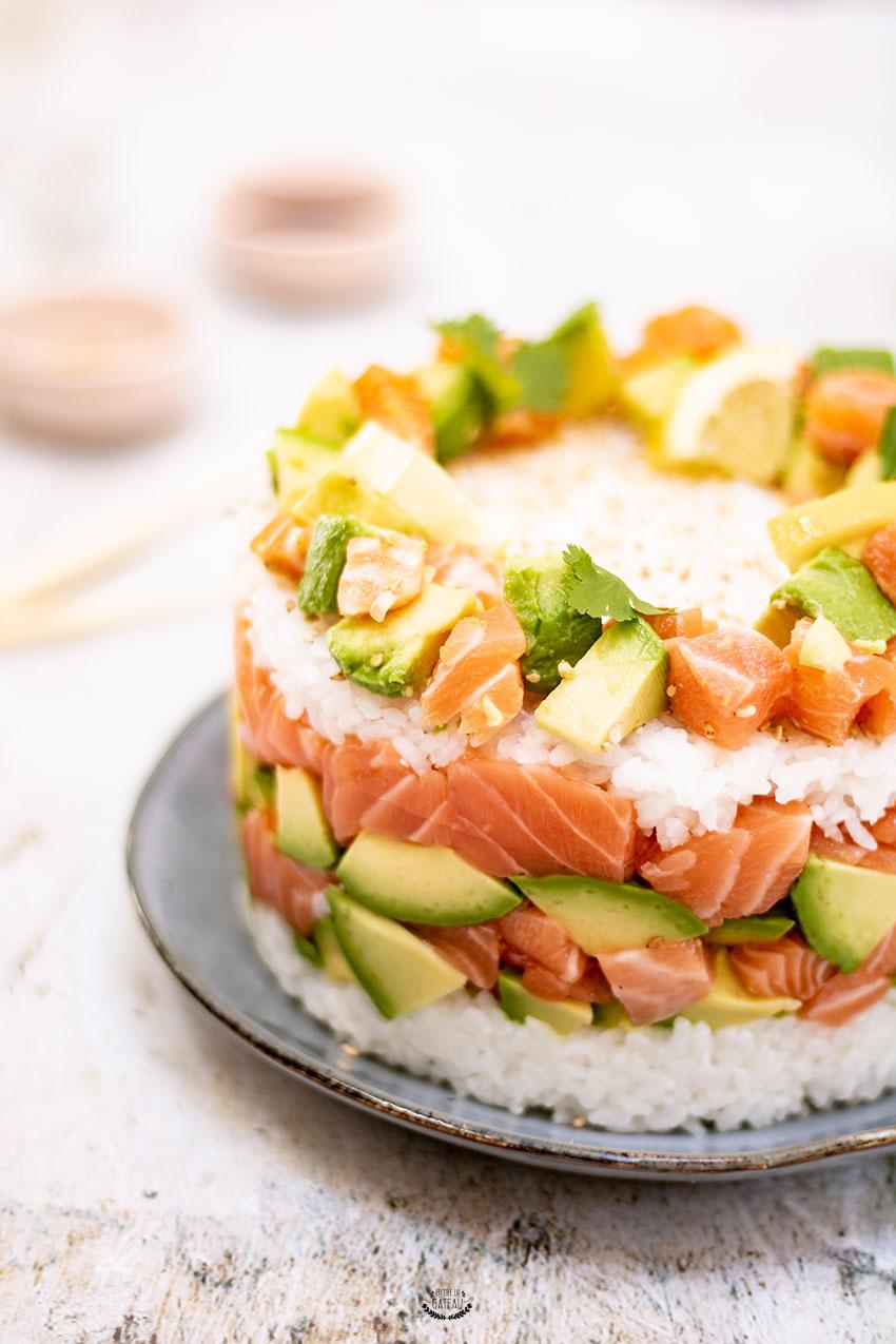 sushi cake facile