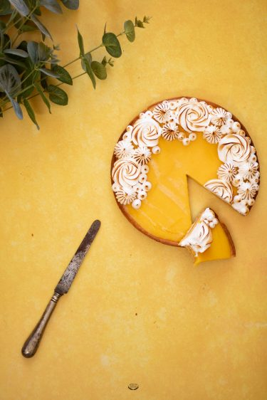 tarte aux fruits de la passion meringuée