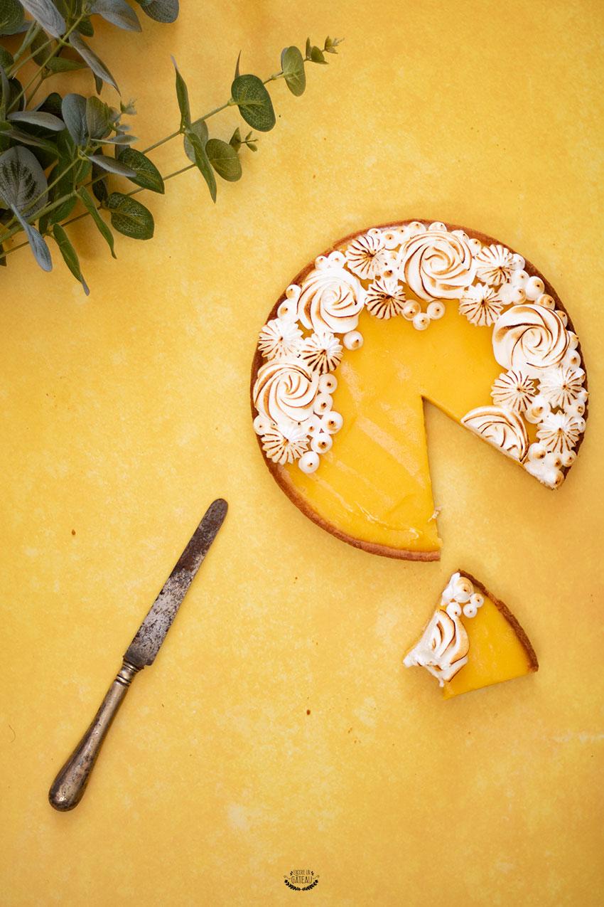 tarte fruit de la passion meringuée