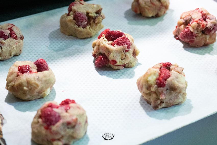 cookies framboises avant cuisson