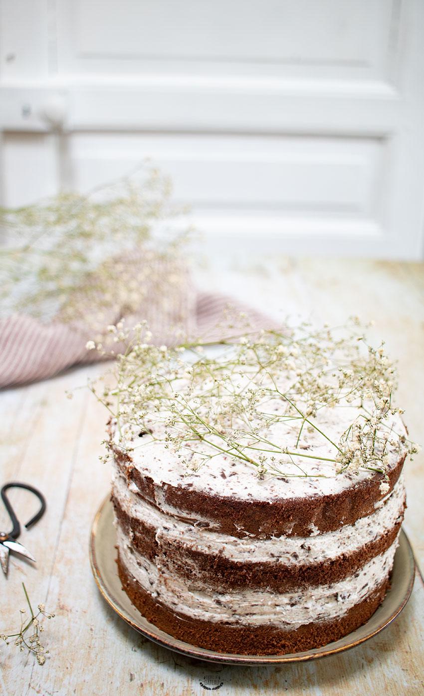 nude cake stracciatella