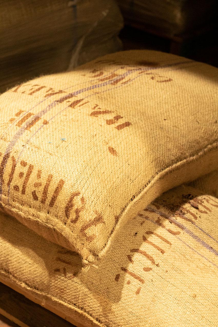 sacs fèves de cacao