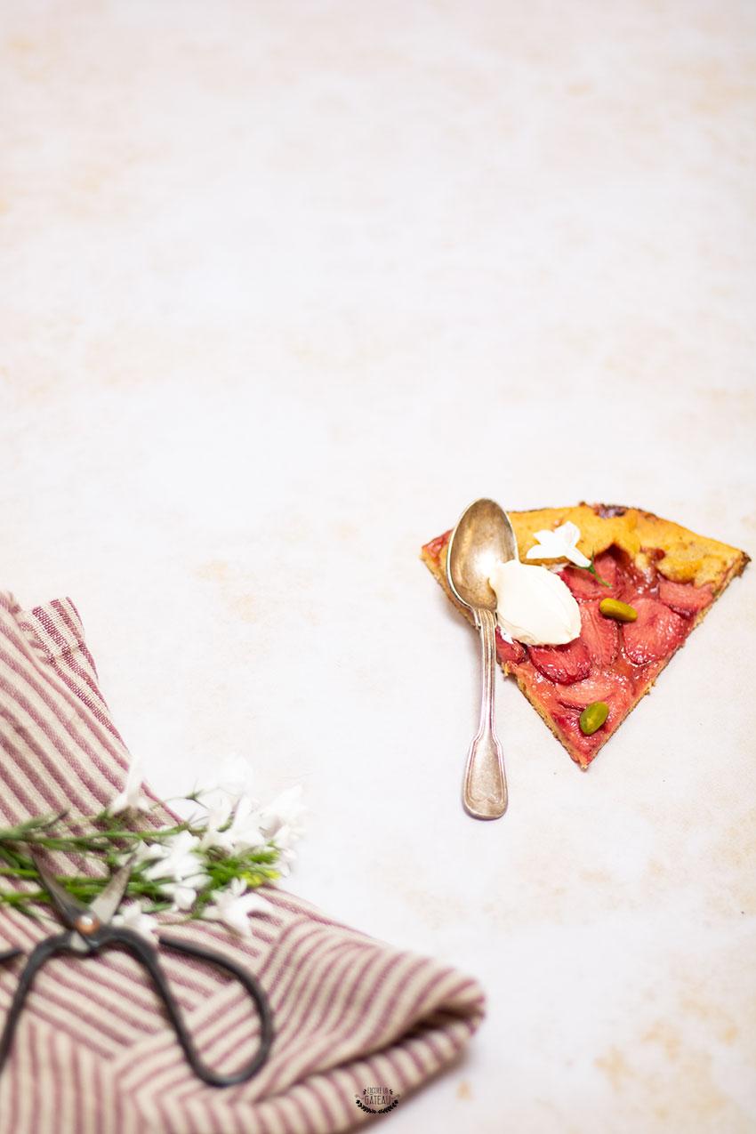 tarte fraise pistache rustique sans moule
