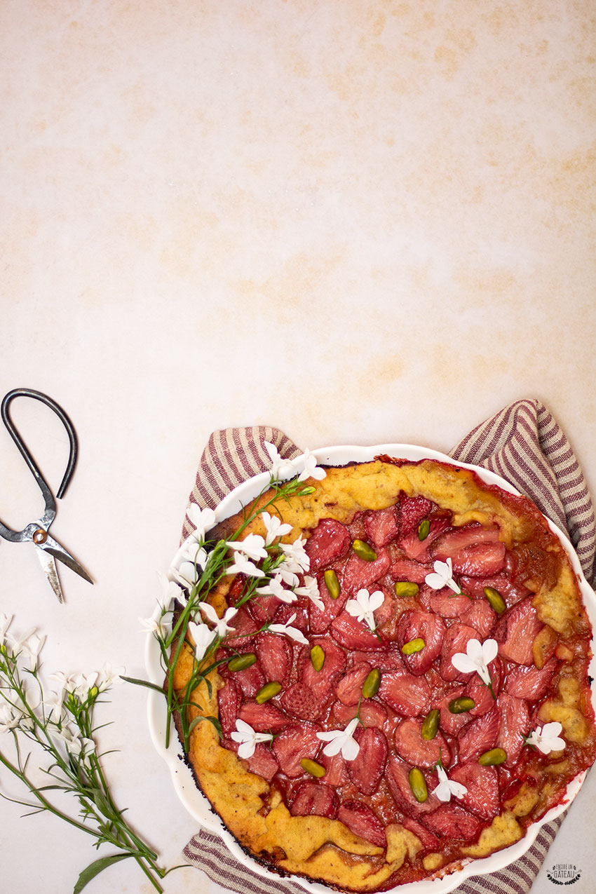 tarte rustique fraises pistaches