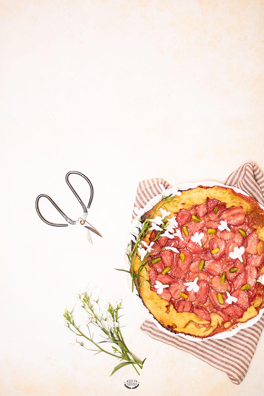 tarte rustique pistache fraise