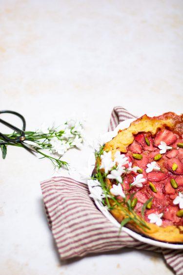 tarte rustique fraise pistache