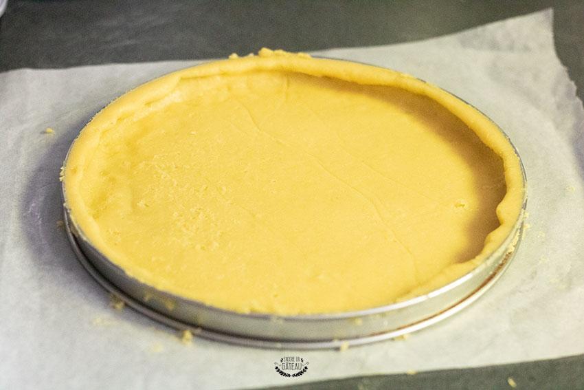 fonçage gâteau basque
