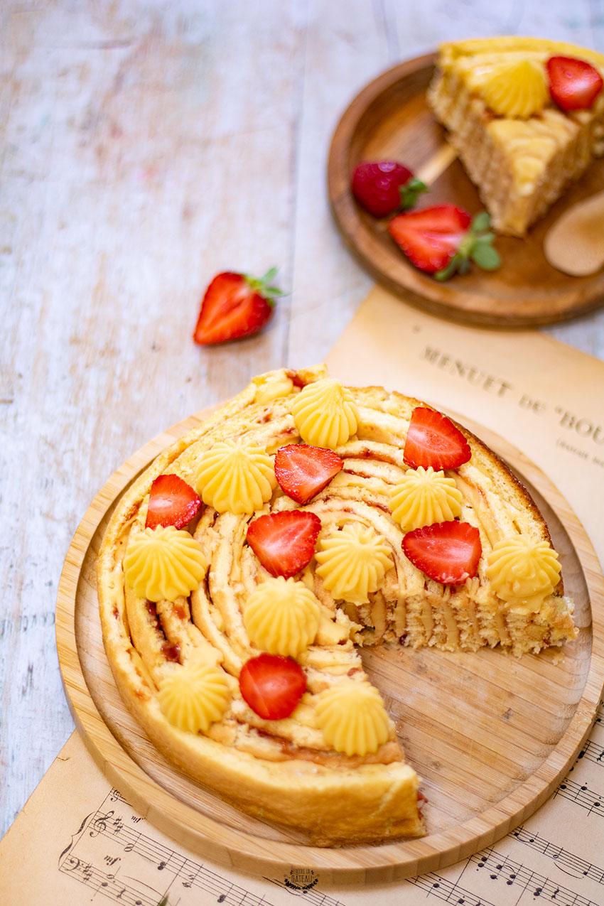gâteau roulé passion fraise recette