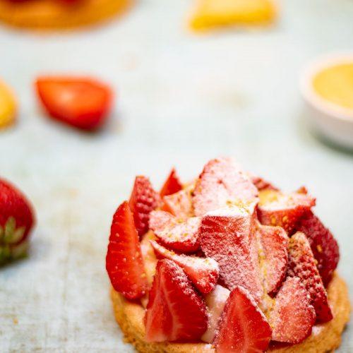 revisite tarte aux fraises lignac