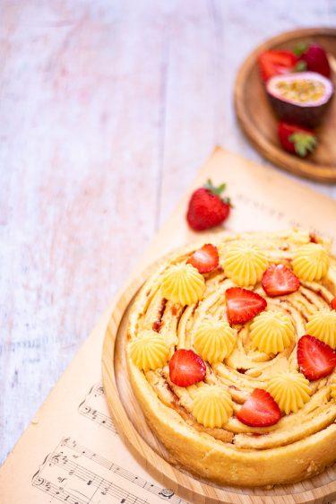 gâteau roulé fraise passion