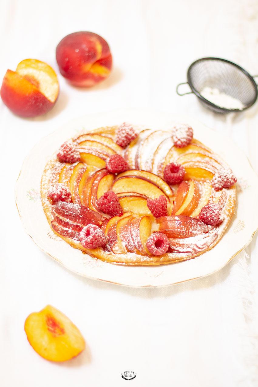 tarte fine aux nectarines