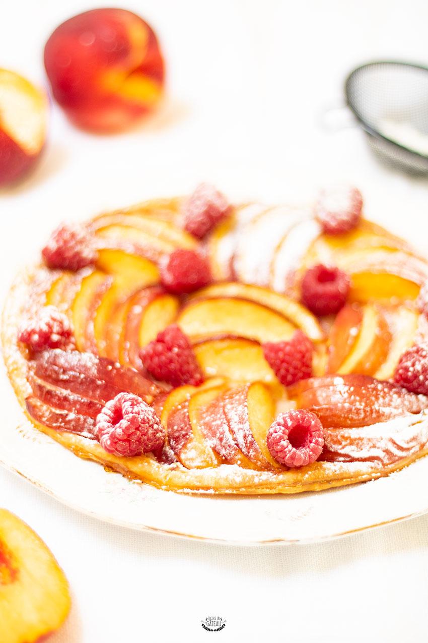 tarte nectarines pâte feuilletée