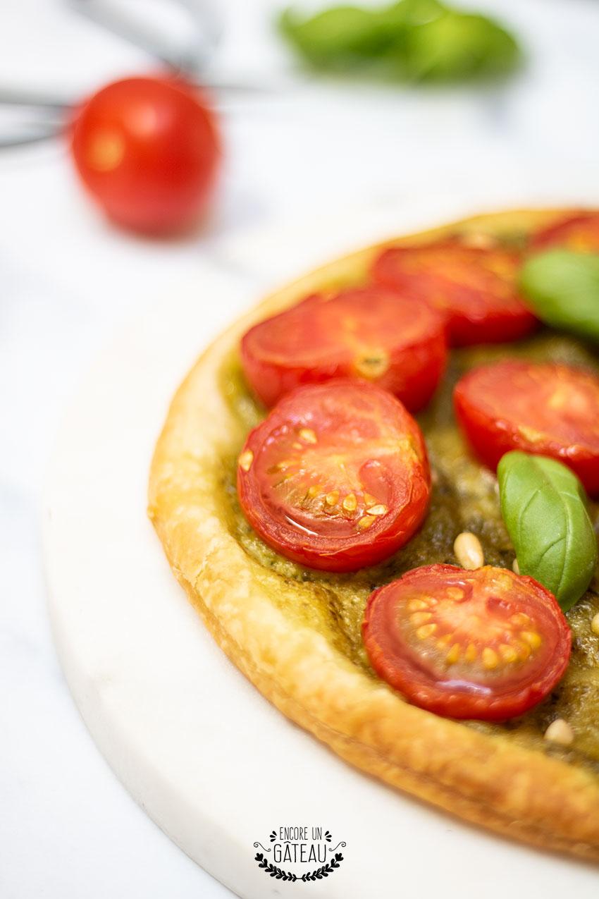 tarte fine tomate pesto