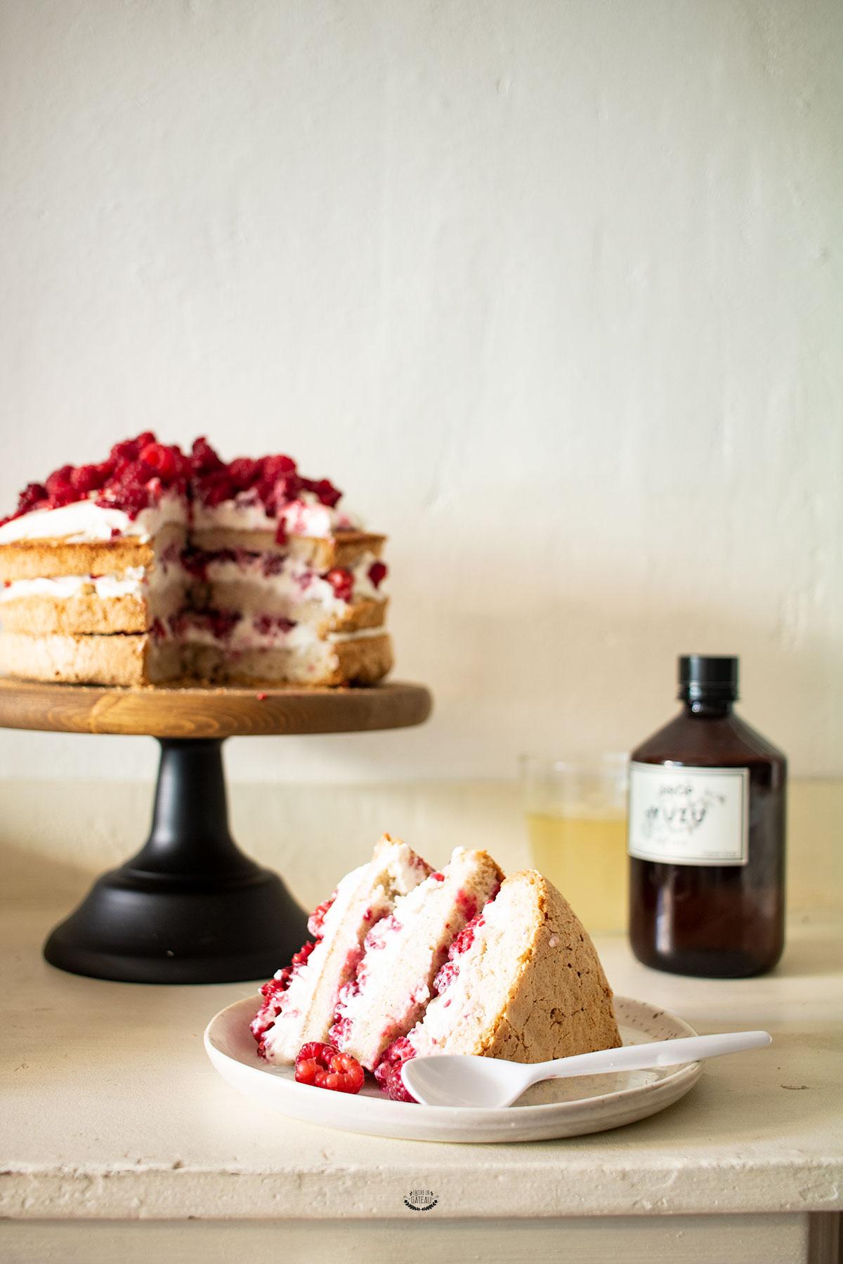 angel cake aux framboises