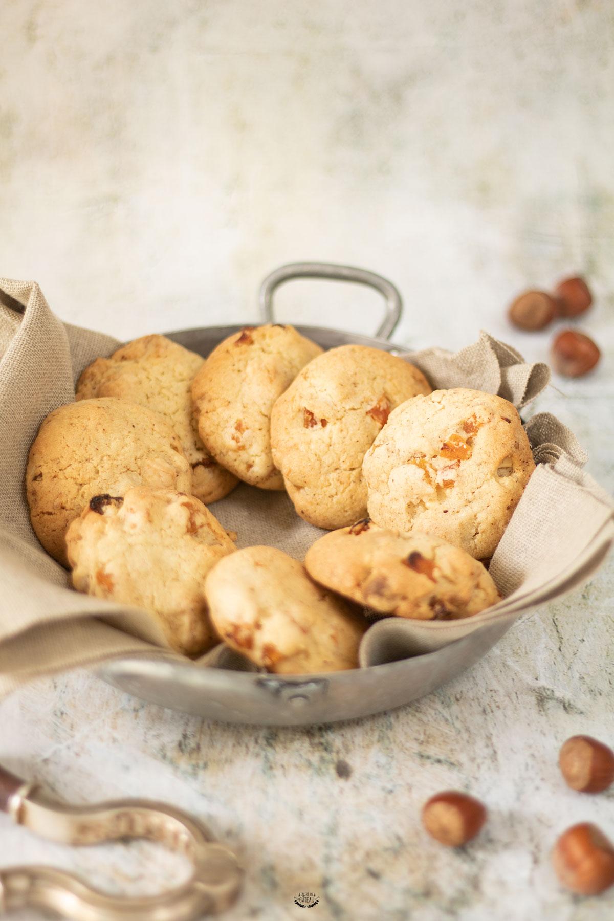 cookies abricots chocolat blanc et noisettes