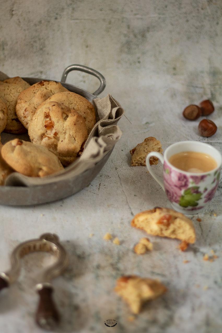 cookies abricots noisettes et chocolat blanc