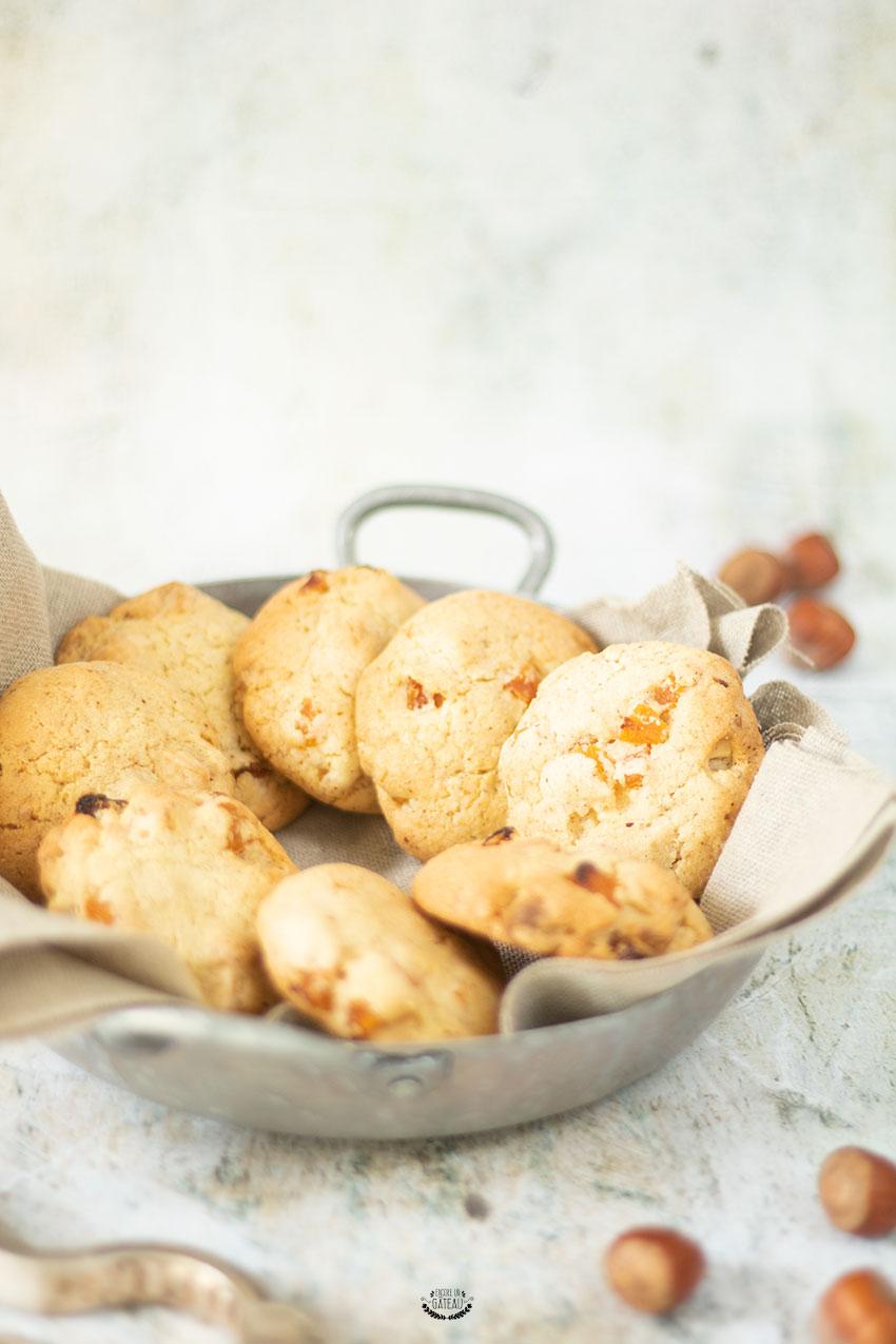cookies chocolat blanc abricots noisettes