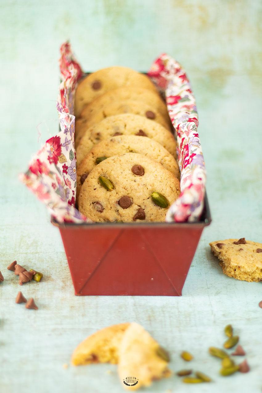 cookies pistache chocolat recette
