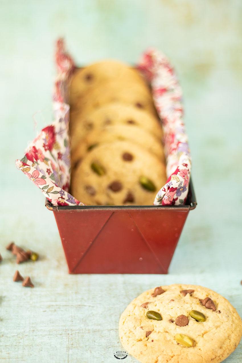 faire des cookies pistache chocolat