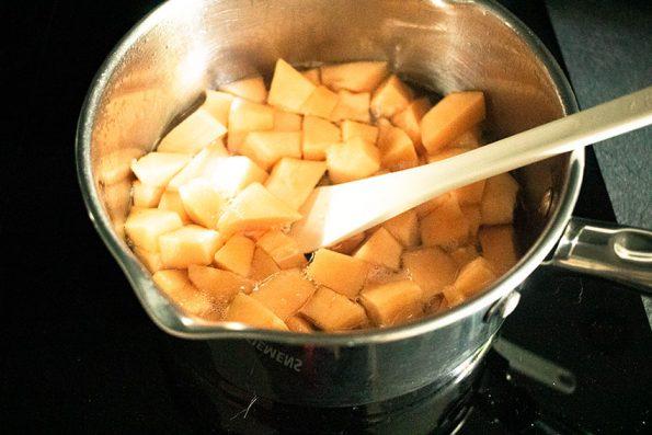 melon poché pour sorbet maison