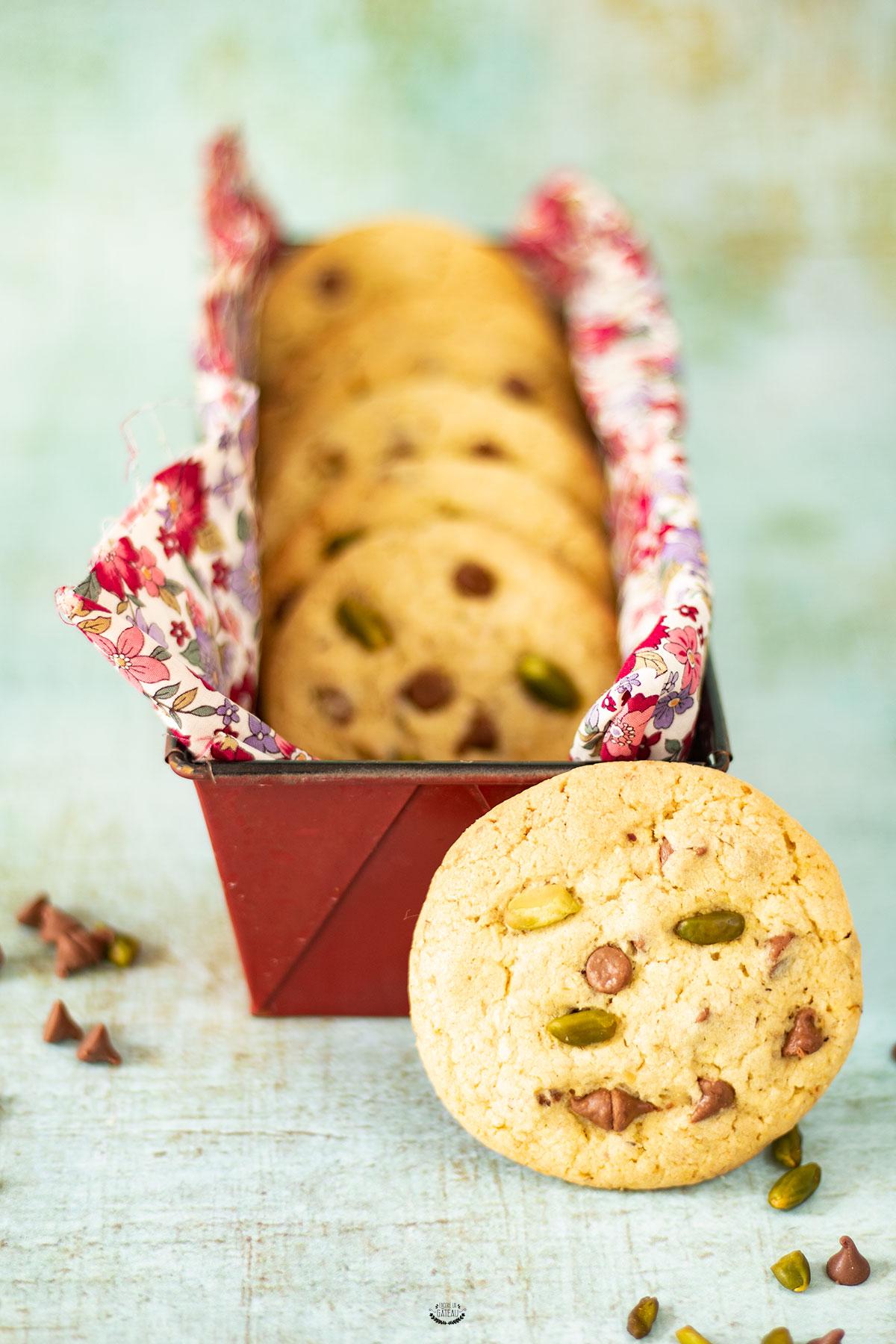 recette cookies pistache chocolat