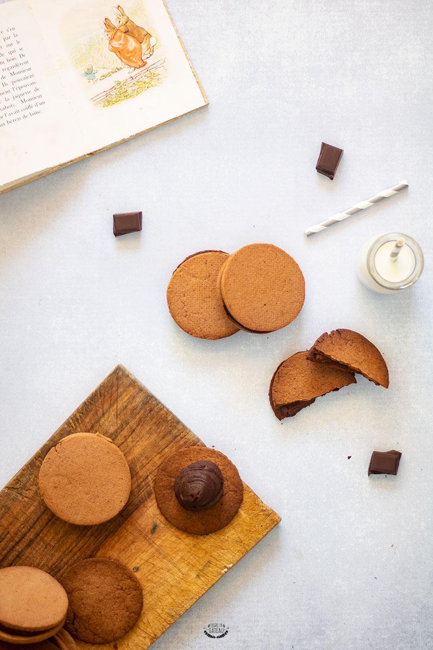 biscuits sablés ganache chocolat