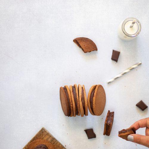 biscuits sablés fourrés chocolat