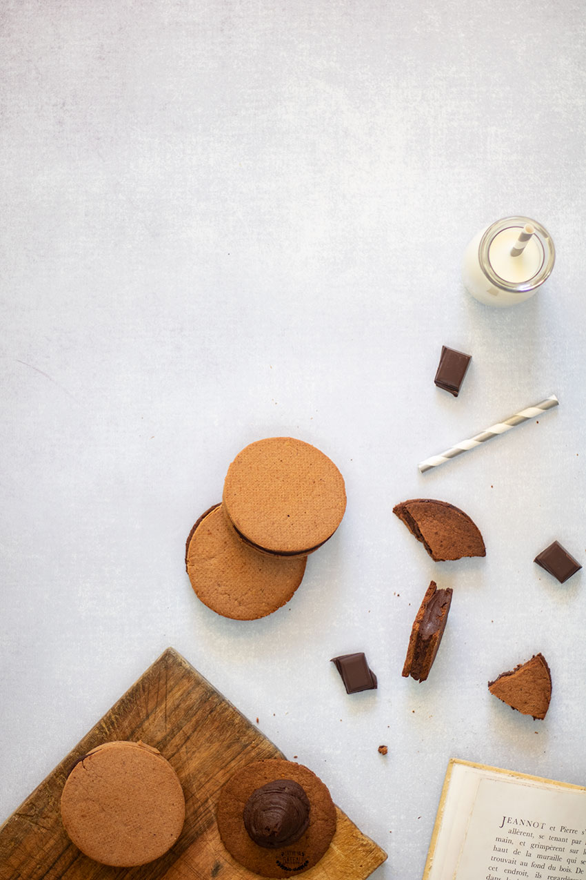 goûters sablés cacao fourrés chocolat