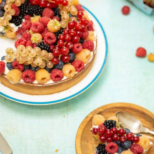 tarte aux fruits crème de noisettes
