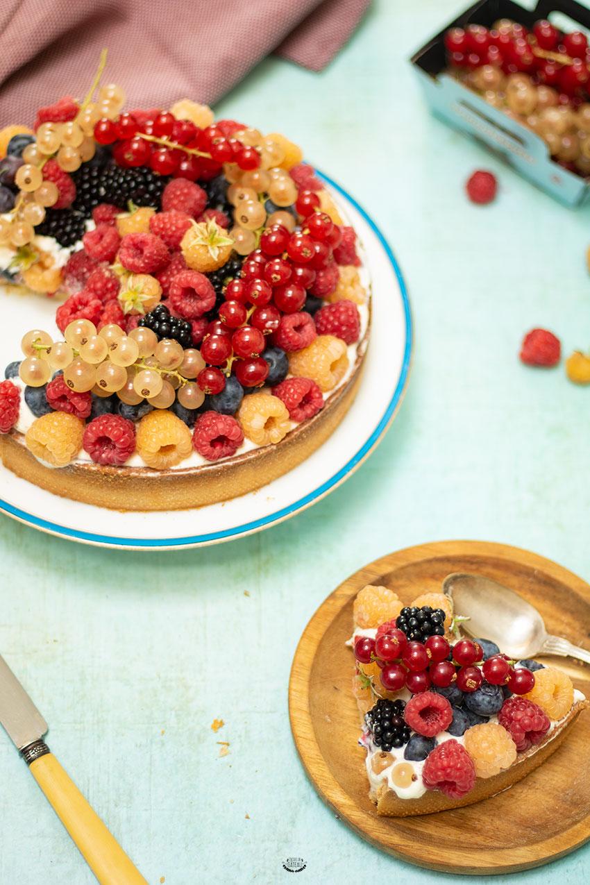 tarte aux fruits crème de noisette