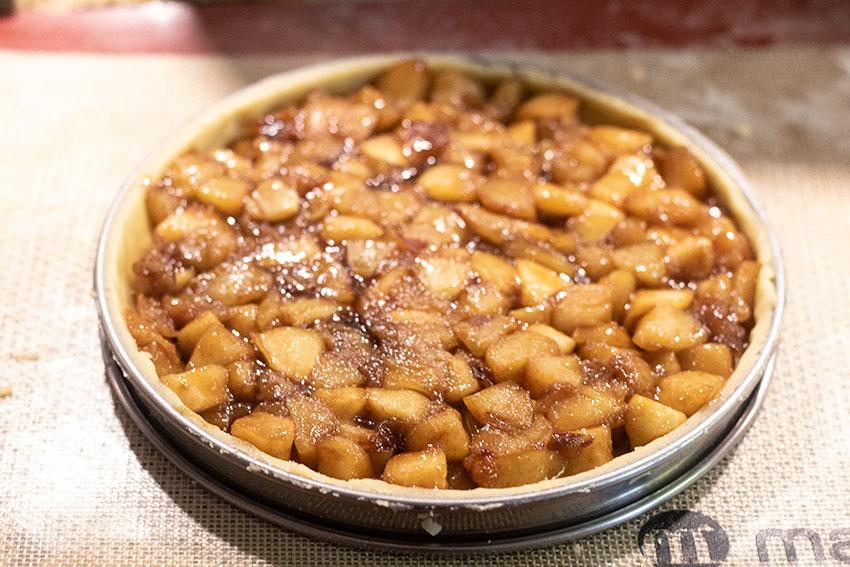 tarte pomme cannelle avant cuisson