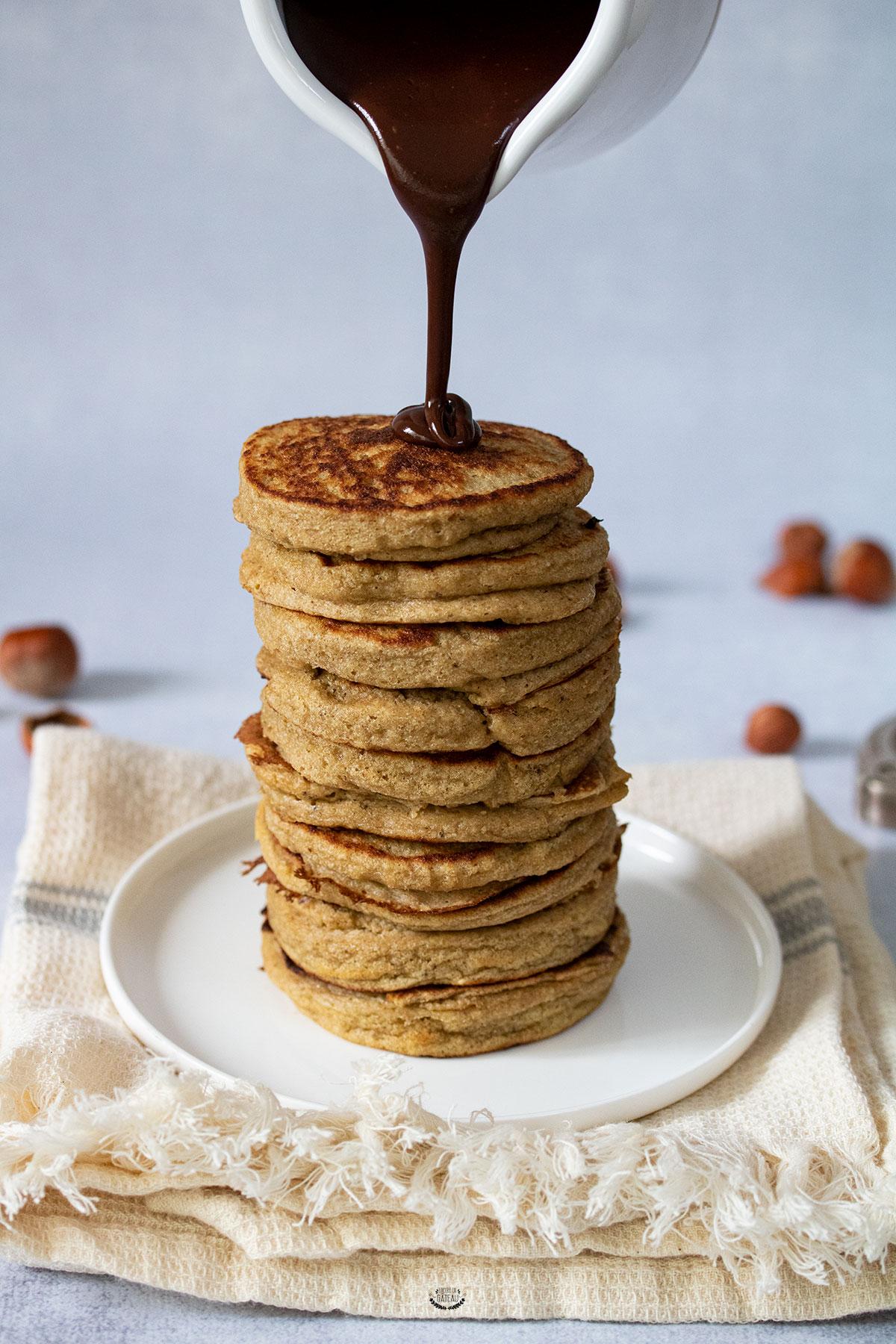 pancakes banane flocons d'avoine sans gluten